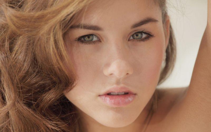 Brunettes women closeup shyla jennings faces wallpaper