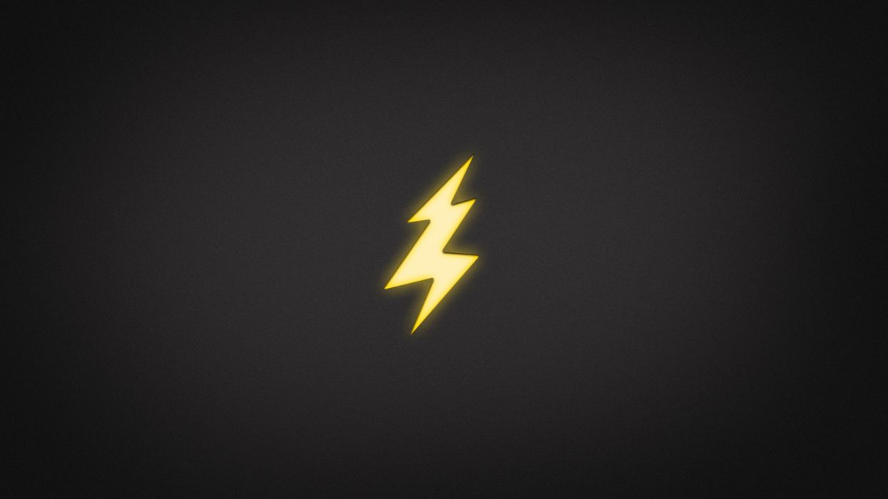 Minimalistic electricity lightning wallpaper