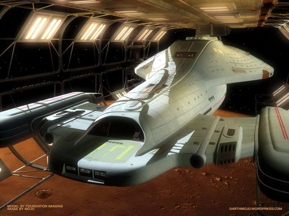 Outer space dock star trek uss voyager wallpaper