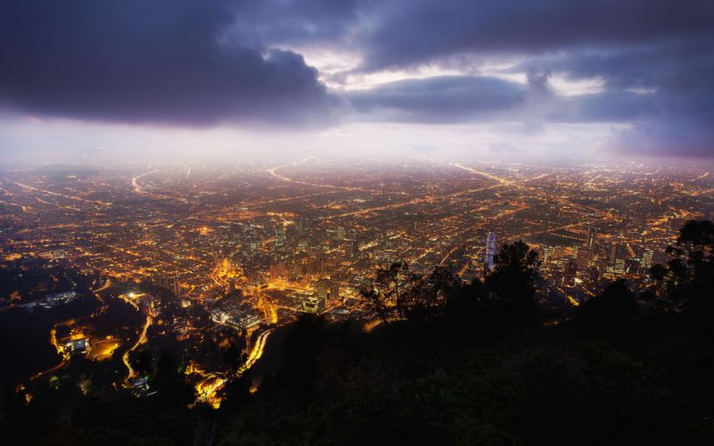 Clouds cityscapes streets colombia long exposure wallpaper