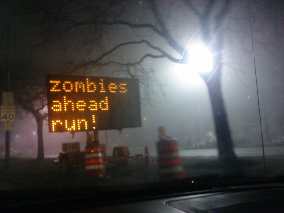Zombies signs wallpaper