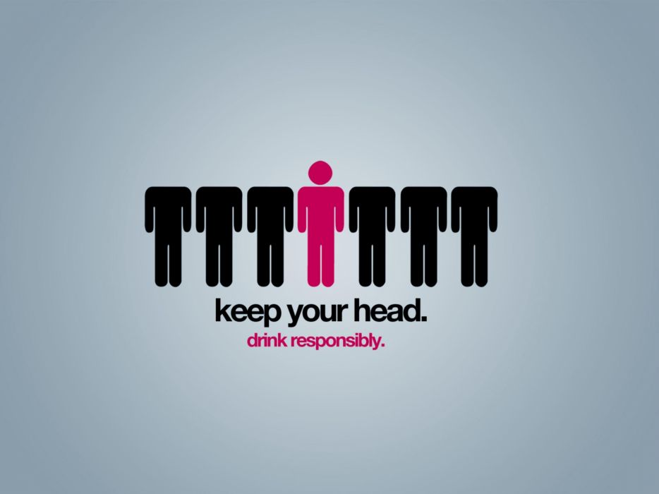 Text funny head creative wallpaper
