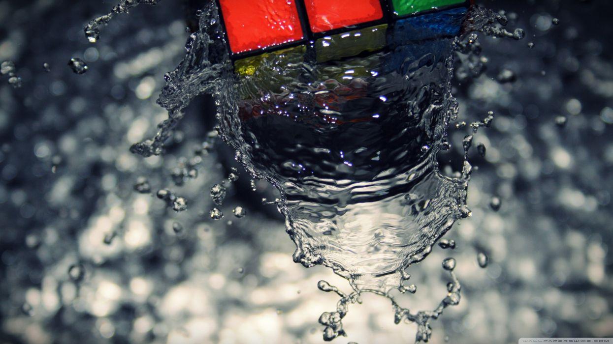 Water rubiks cube zeka kA wallpaper