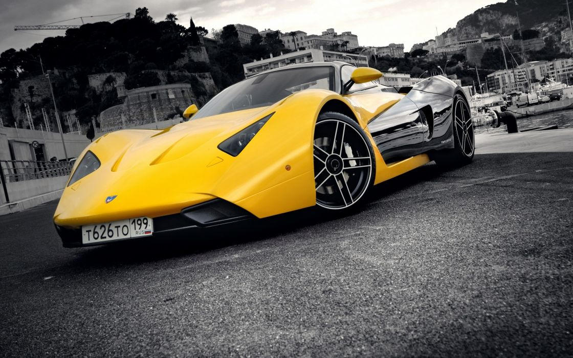 Cars supercars selective coloring marussia marussia b wallpaper