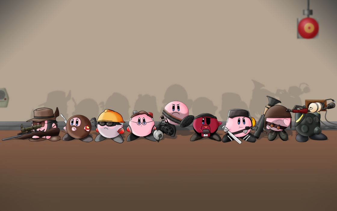 Kirby valve corporation heavy tf pyro tf spy tf scout tf medic tf sniper demoman tf team fortress  wallpaper