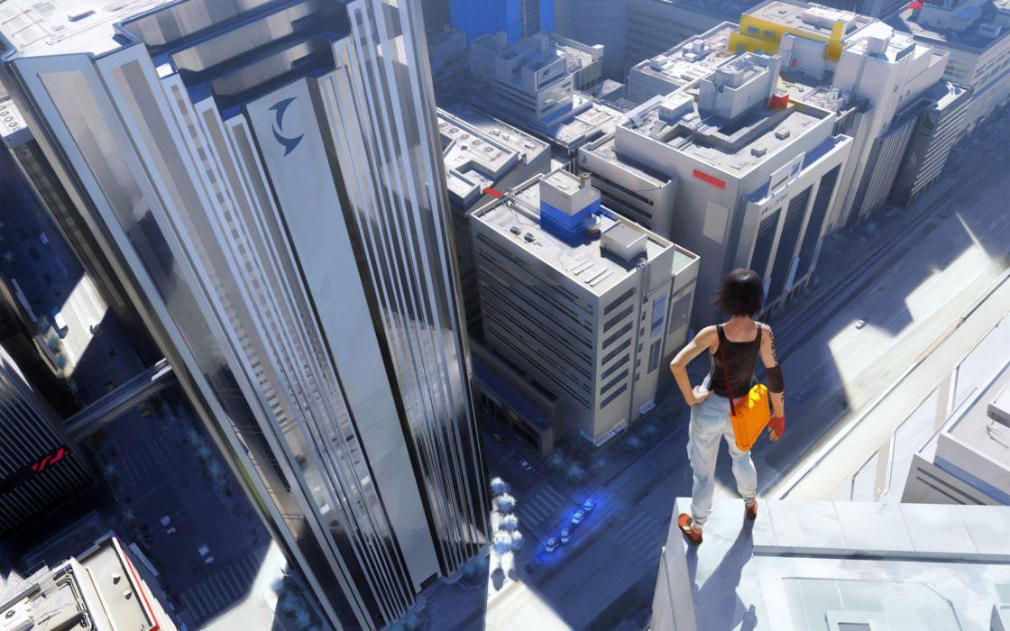 Video games mirrors edge urban faith connors wallpaper