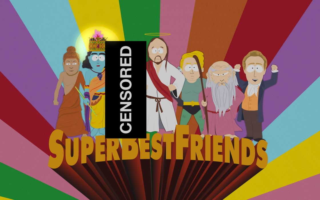 South park friends censored buddha krishna prophet jesus confucius wallpaper