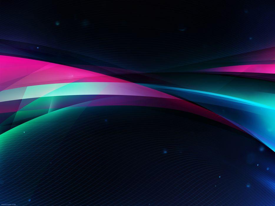 Abstract multicolor waves design wallpaper