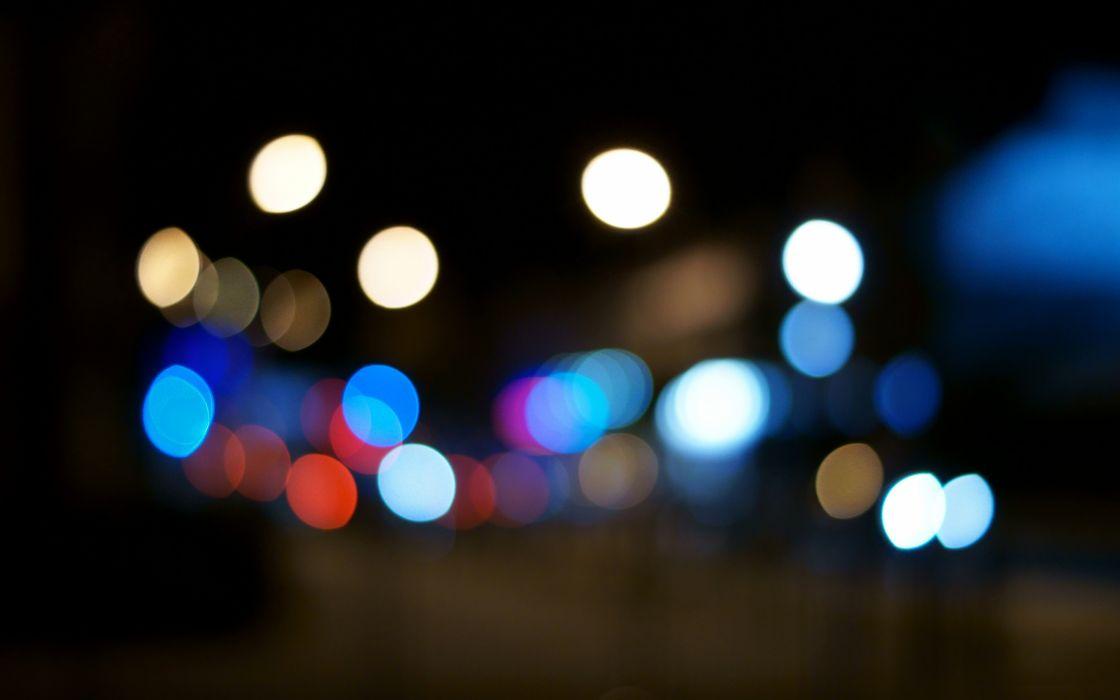 Night bokeh light bulbs orbs out of focus wallpaper