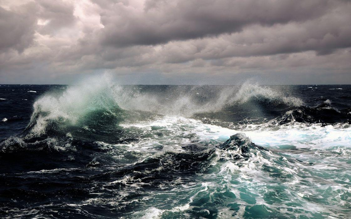 Waves storm seascapes wallpaper