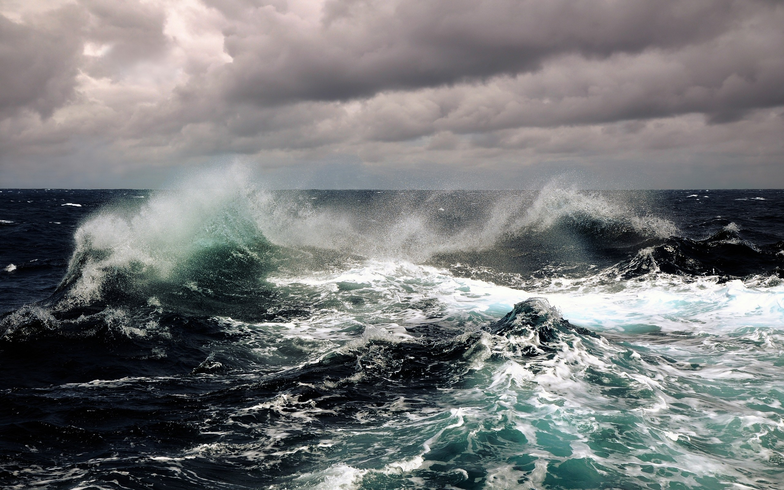 Waves storm seascapes wallpaper | 2560x1600 | 9555 ...