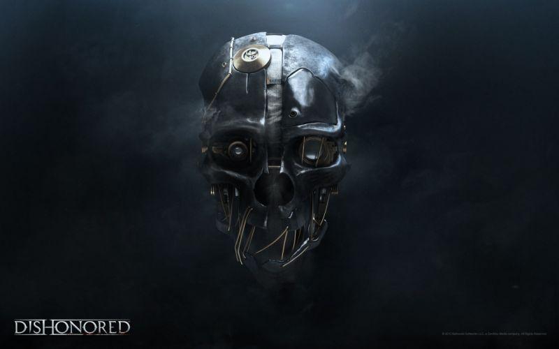 Video games robots masks digital art dishonored wallpaper