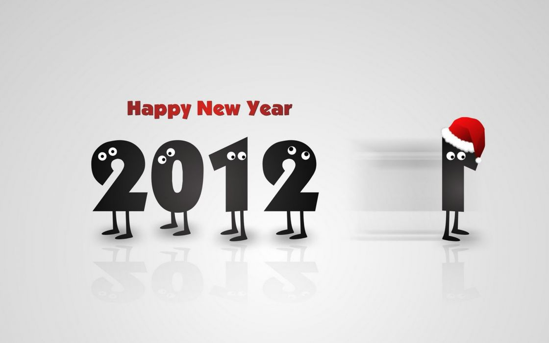 Funny new year creative wallpaper
