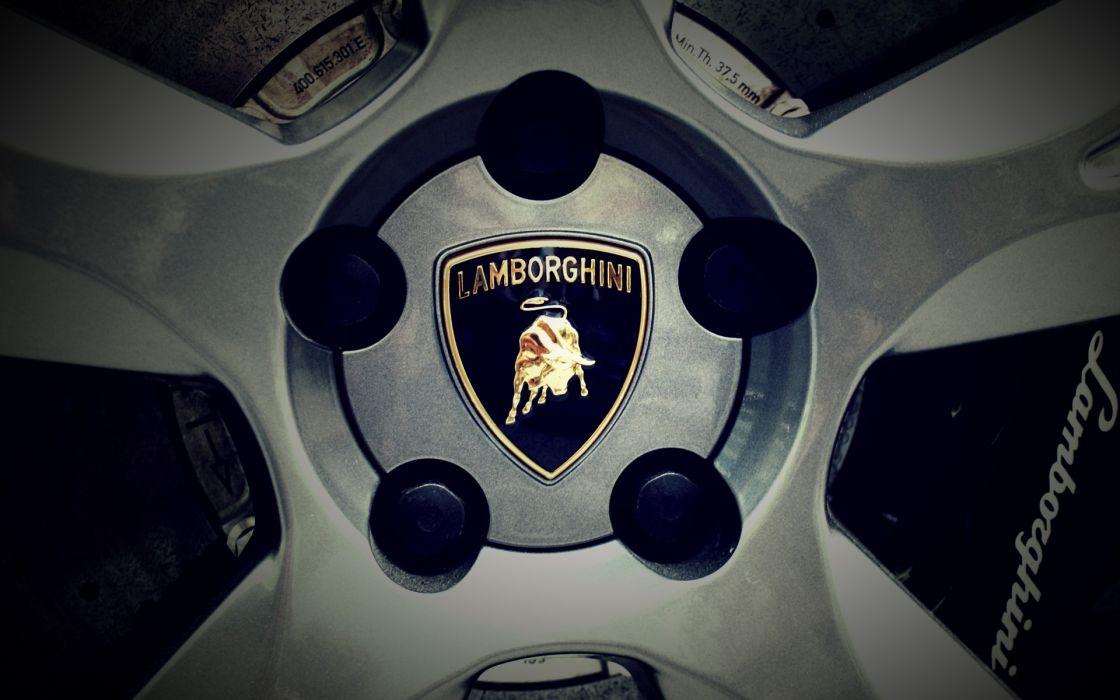 Lamborghini wheels logos wallpaper