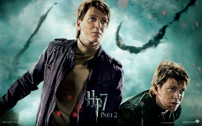 Fantasy movies film harry potter magic harry potter and the deathly hallows movie posters fred weasley george weasley oliver phelps james phelps wallpaper