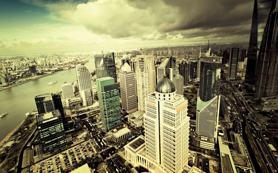 Cityscapes panorama wallpaper