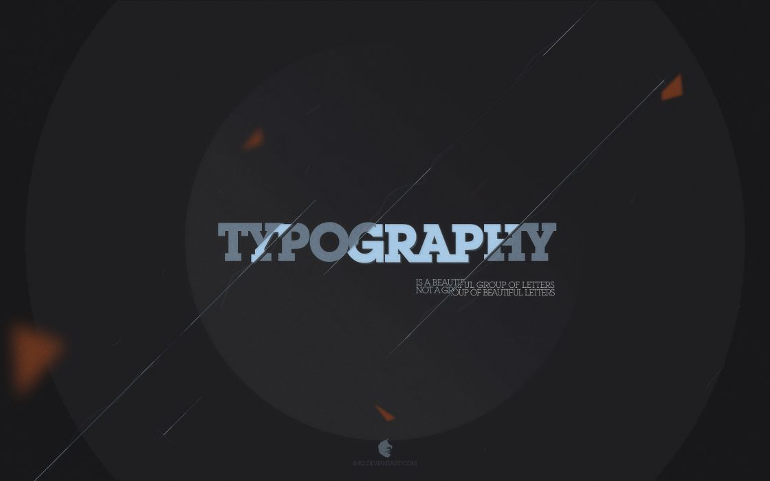 Text typography wallpaper