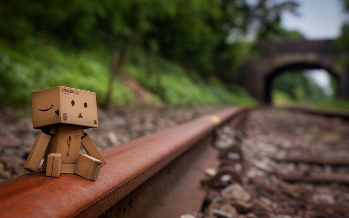 Railroad tracks danboard wallpaper