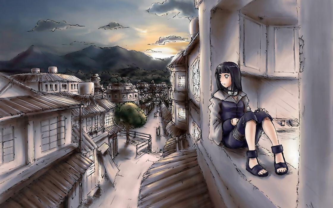 Naruto shippuden hyuuga hinata konoha wallpaper