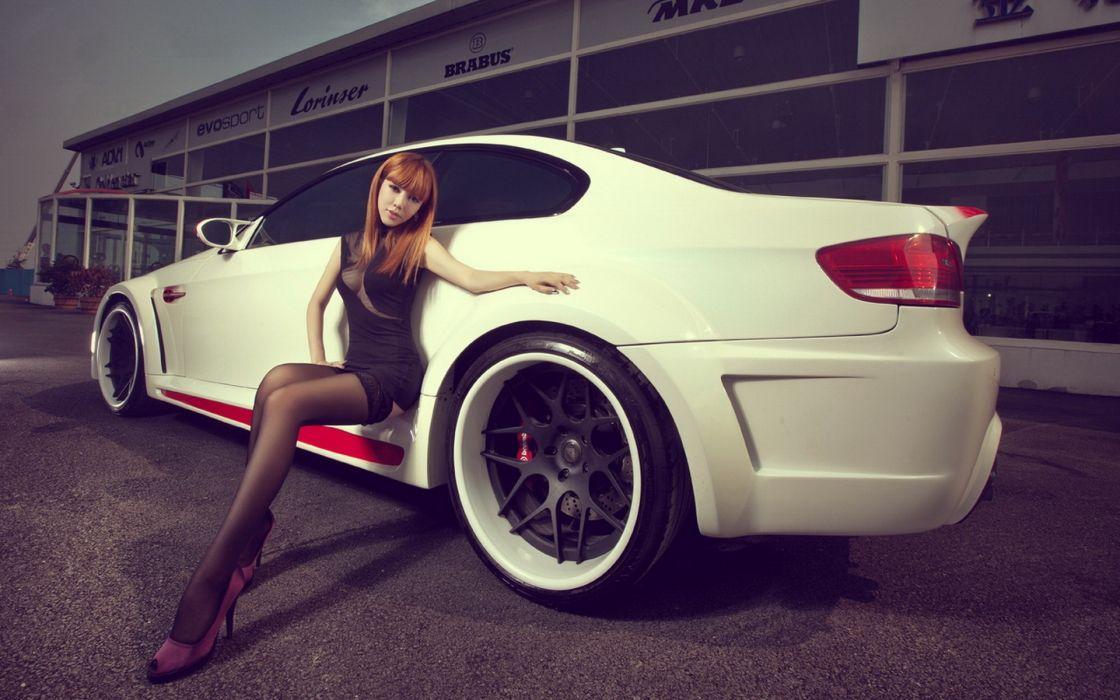 Women bmw cars asians wallpaper
