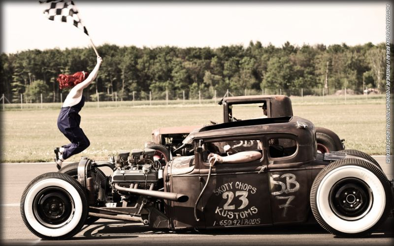 Hot rod rat rod drag racing coupe wallpaper