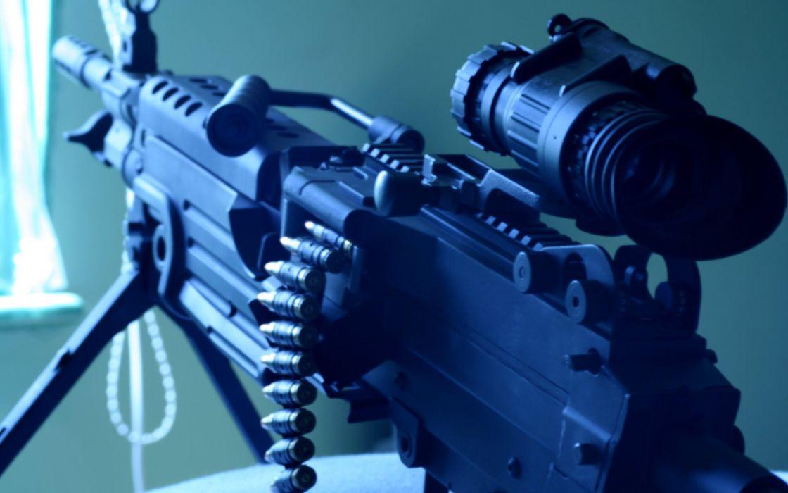 Scope machine gun weapons wallpaper