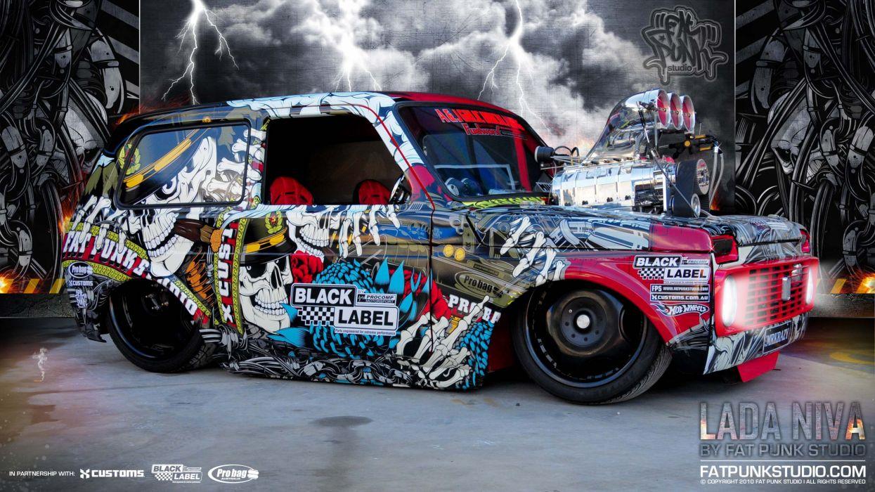 Cars russian lowriders lada  niva wallpaper
