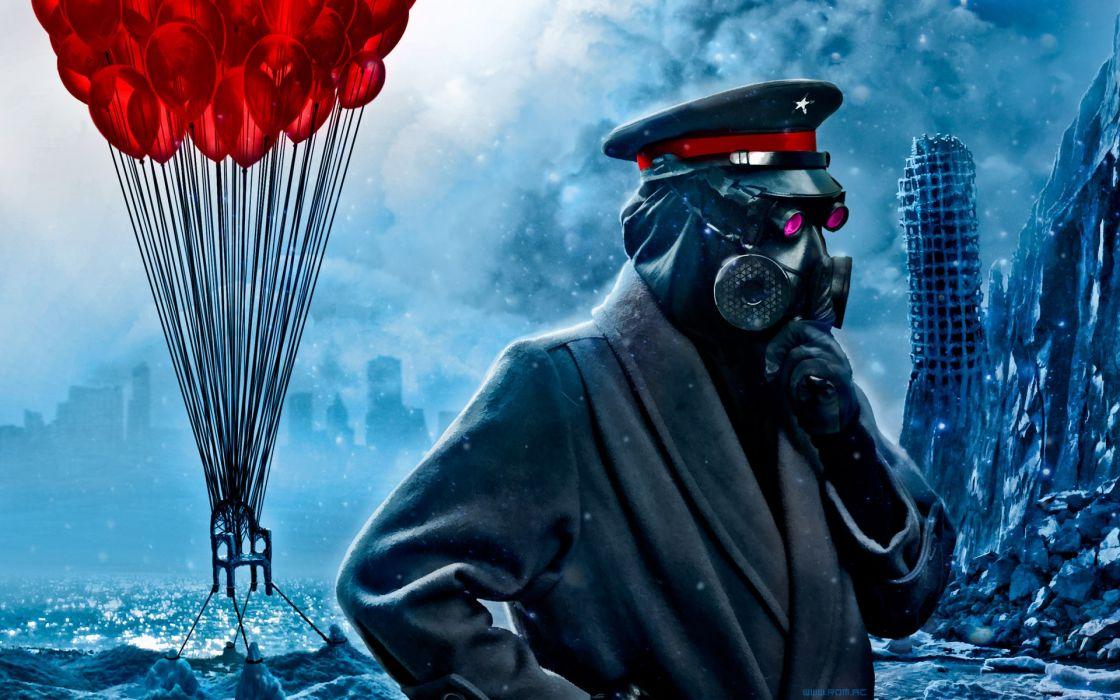 Dark gas masks masks digital art romantically apocalyptic vitaly s alexius misc wallpaper