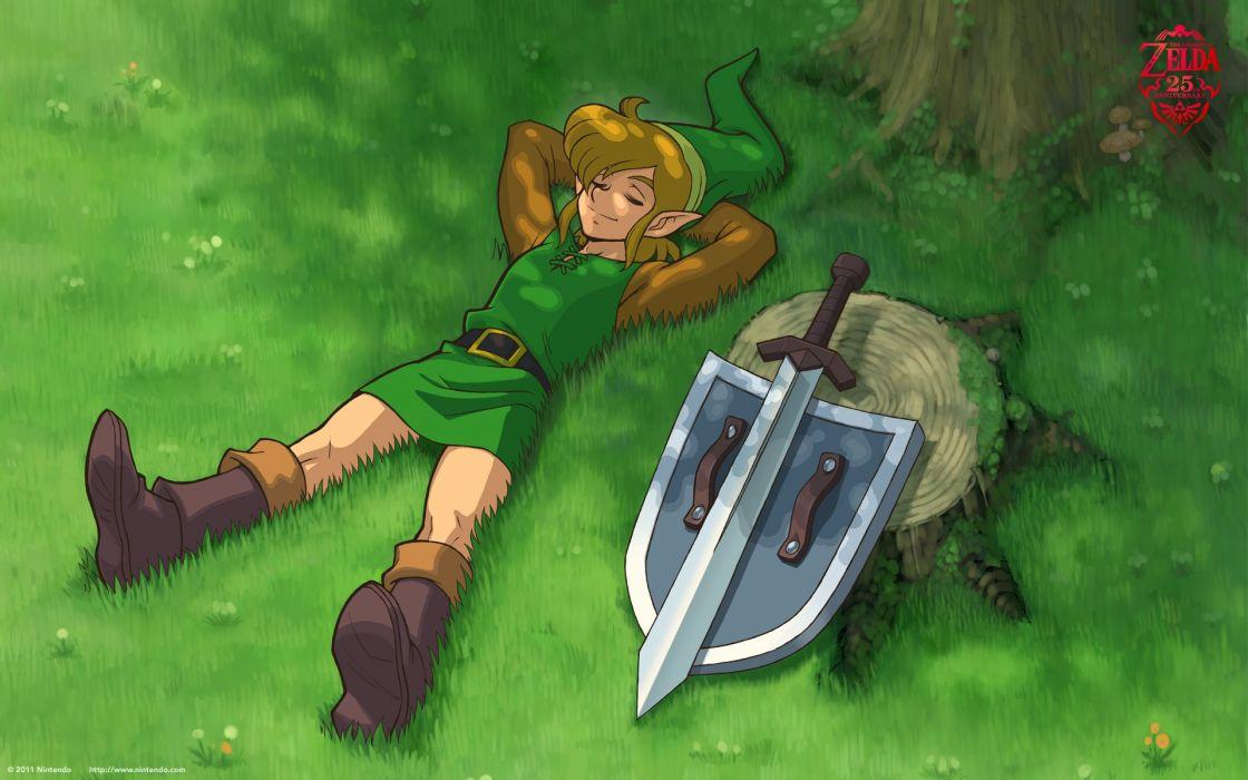 Video games link fantasy art the legend of zelda relaxing retro games wallpaper