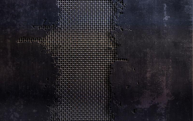 Minimalistic steel textures wireframe wallpaper