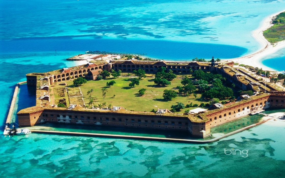 Sea fortress fort jefferson bing wallpaper