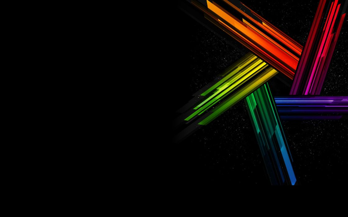 Abstract multicolor black background wallpaper