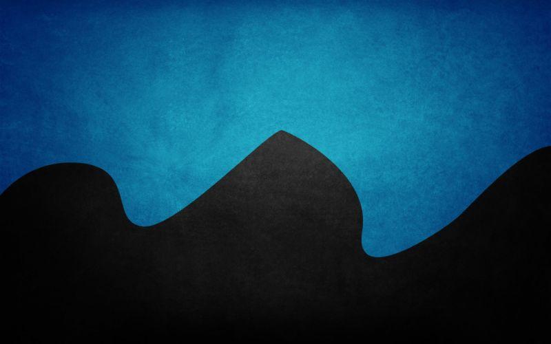 Blue black minimalistic wallpaper