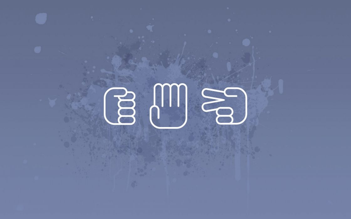Paper minimalistic rock signs hands scissors wallpaper