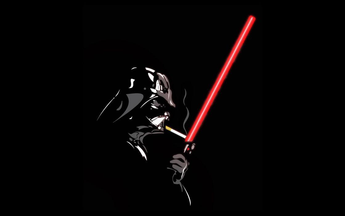 Smoking star wars lightsabers darth vader cigarettes black background wallpaper