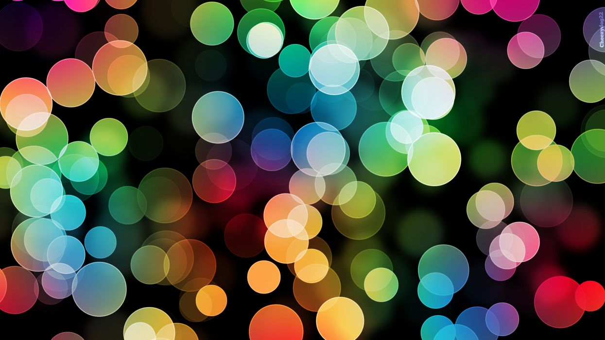 Abstract multicolor circles dots wallpaper