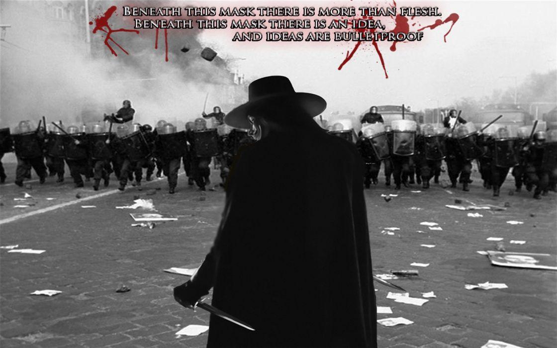 Anonymous riot protest v for vendetta wallpaper
