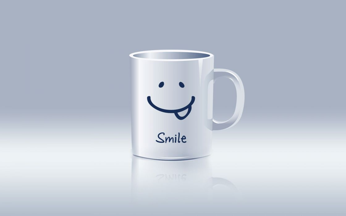 Cups smiling motivational posters wallpaper