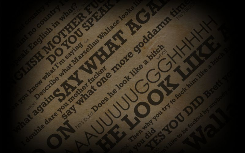 Text pulp fiction quotes typography wallpaper