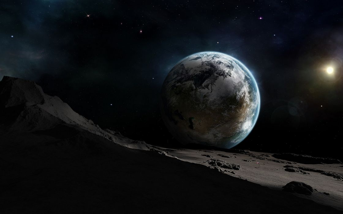 Outer space stars planets the universe journey wallpaper