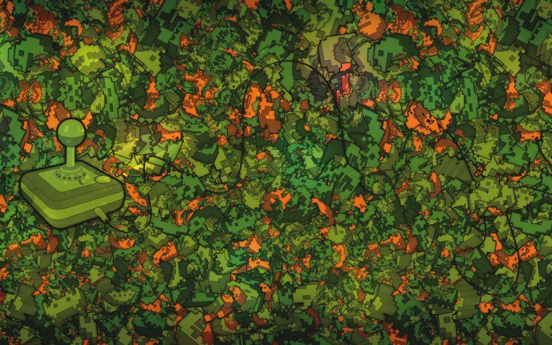 Video games pattern vector wallpaper