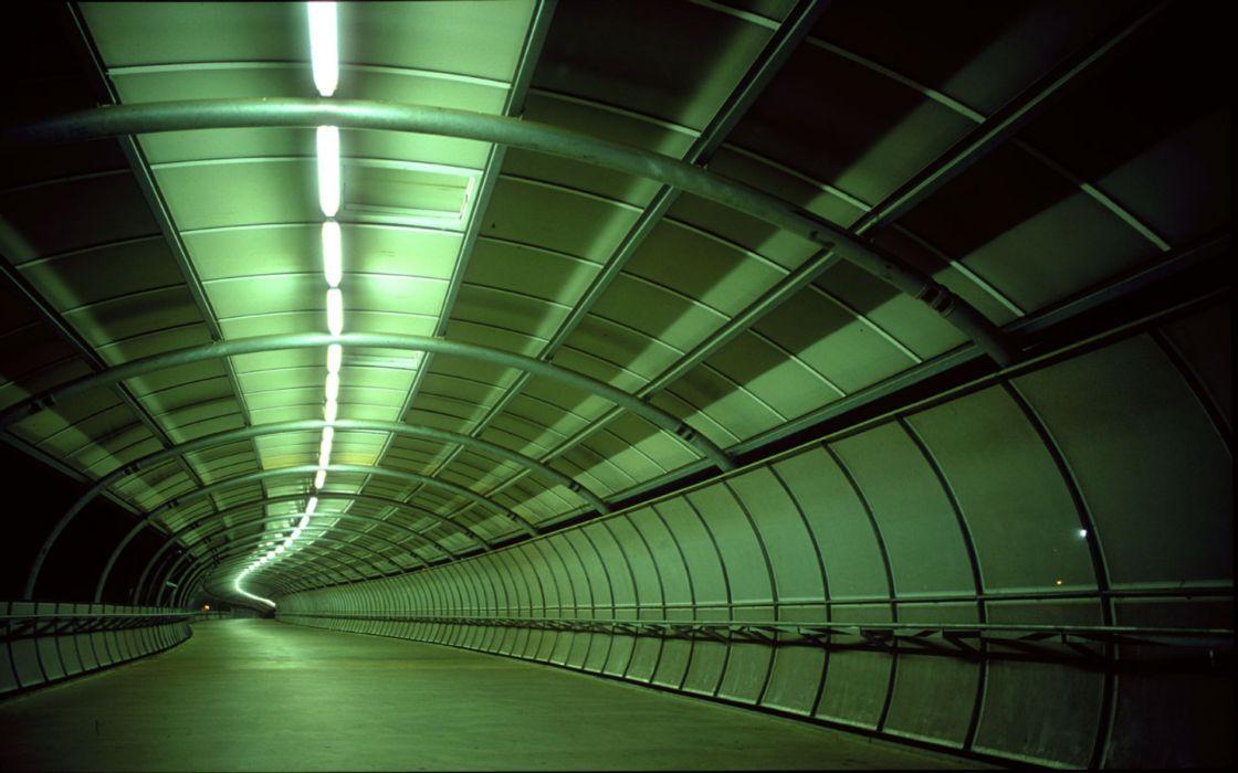 Architecture buildings tunnel wallpaper
