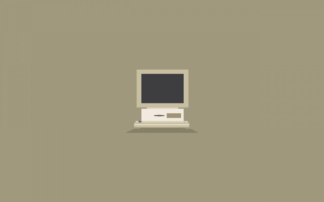 Minimalistic computers wallpaper