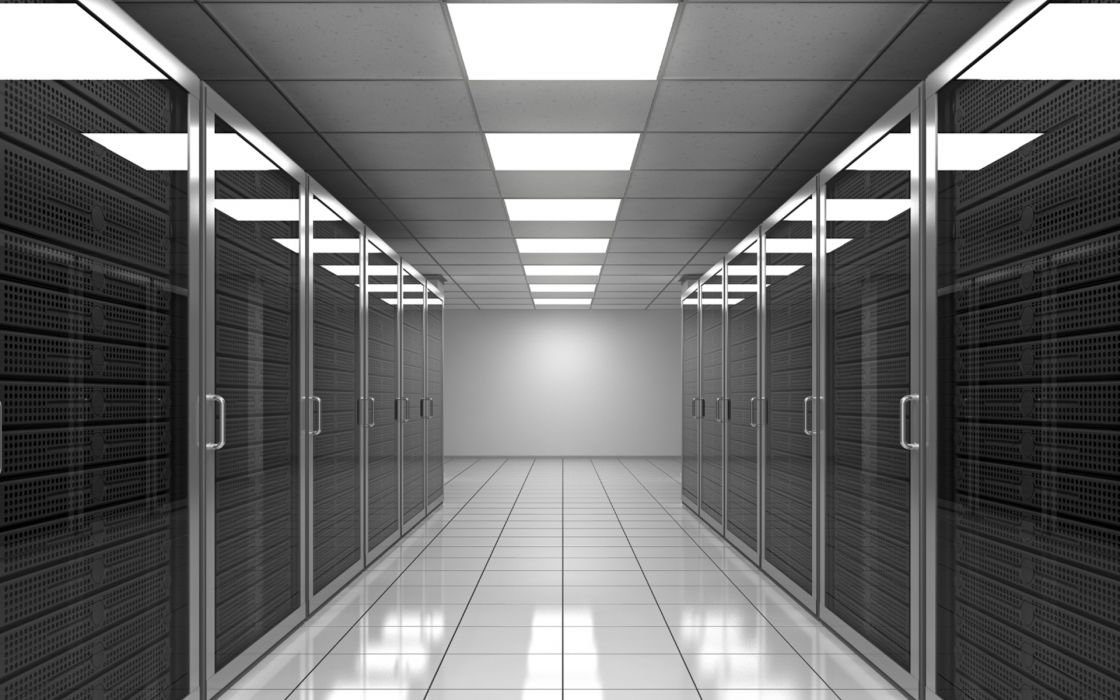 Data center server rooms wallpaper