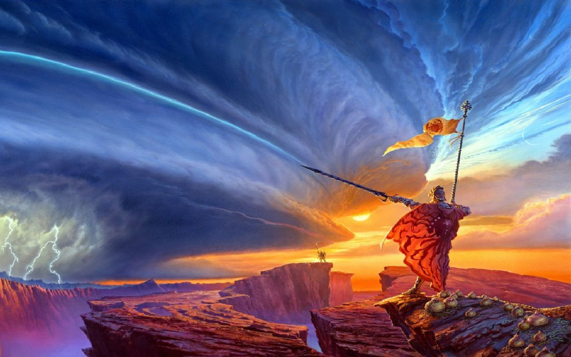 Fantasy art swordsman wallpaper
