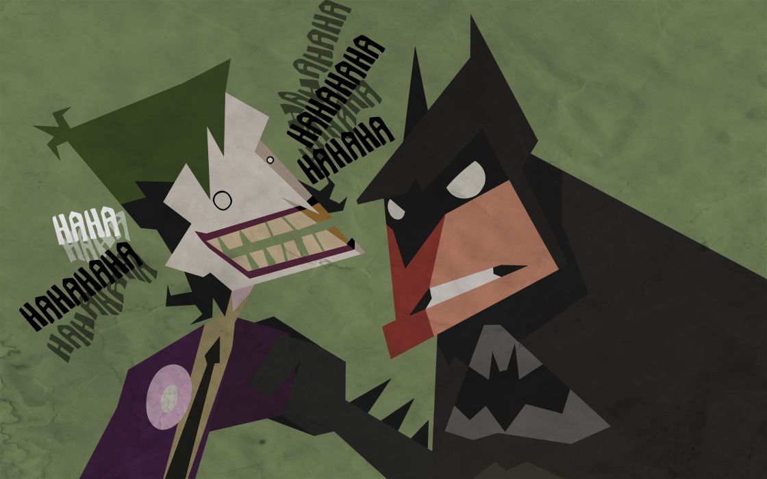 Batman the joker cartoonish wallpaper