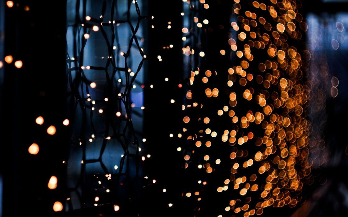 Night lights artistic bokeh wallpaper