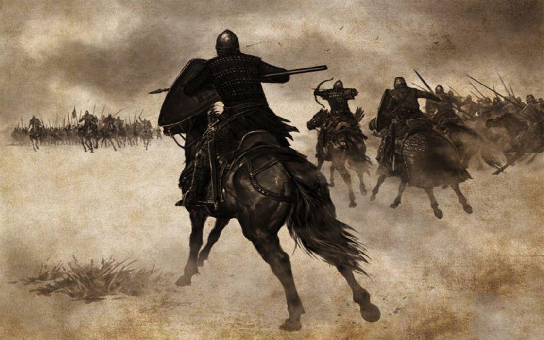Knights horses battles artwork wallpaper