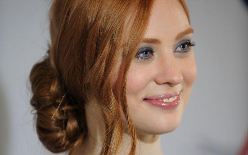Women redheads deborah ann woll smiling faces wallpaper