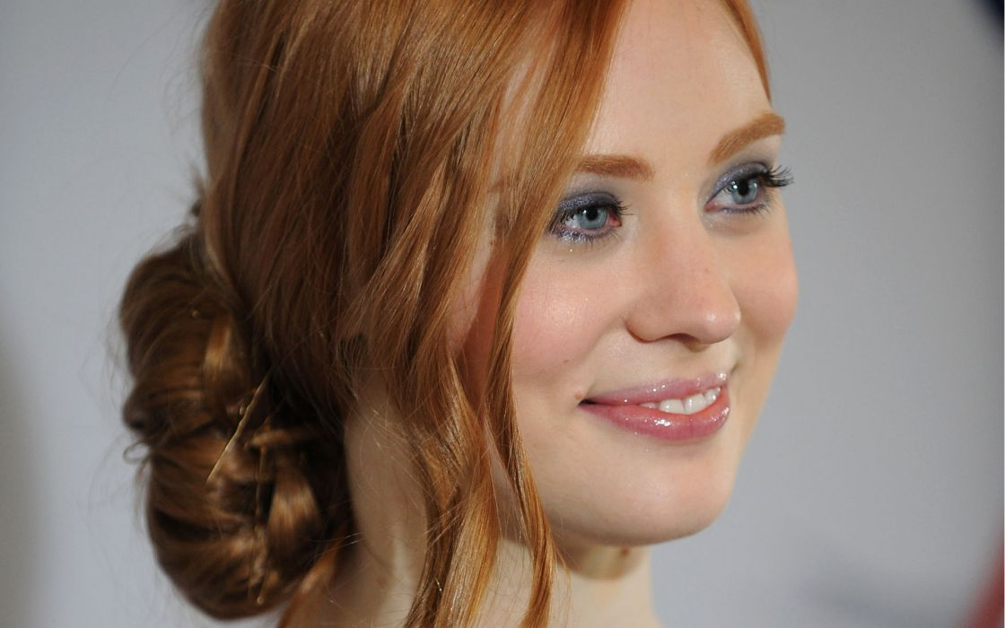 Women redheads deborah ann woll smiling faces wallpaper